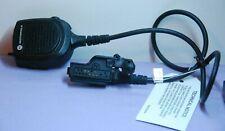 Motorola Public Safety Mic Rmn5073b Withrf Adapter Xts2500 Xts1500 24 Cord New