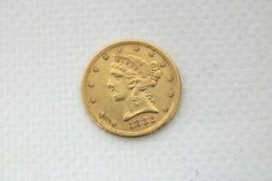 Goldmünze 5 Dollar 1882 Gold  Gewicht: 8,33