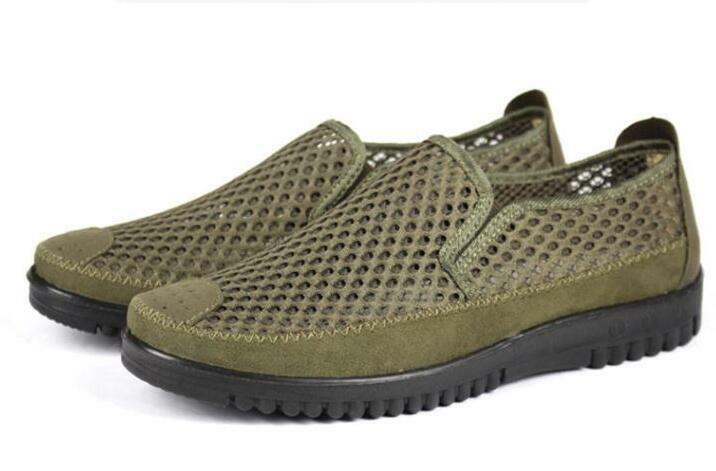 a7addab341b1 Mens Summer Mesh Net Cloth Breathable Pull On Sport Sandals Casual shoes  Sneaker