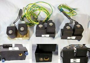 Parker-Dual-Double-Solenoid-12-VDC-Air-Gas-Valve-1-4-034-inch-NPT-150-PSI-2-Port-1W