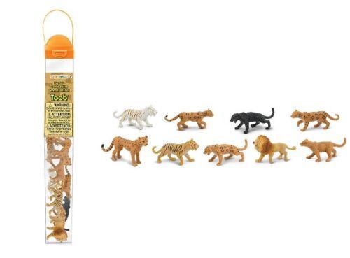 Safari LTD 694604 predatori-felini Serie Tubos-TUBI 9 statuine