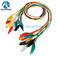 50pcs 50cm Double Ended Crocodile Clips Cable Alligator Jumper Wire Test Leads