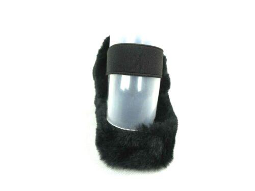 Womens Ladies Flat Fur Furry Slip On Peep Toe Slippers Shoes Sandals Size Indoor