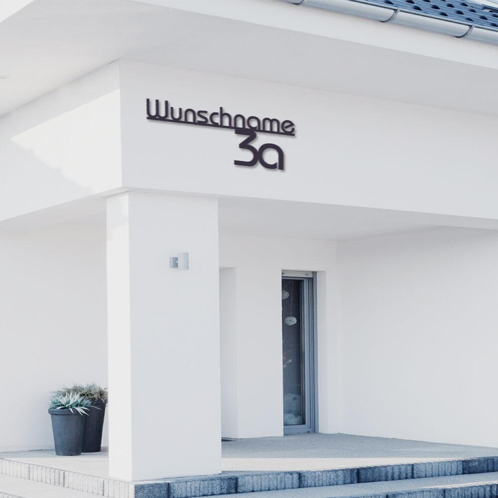 Hausnummer und Straßenamen aus 6mm Acrylglas Anthrazitgrau,Schwarz,Weiß ALEZZIO®