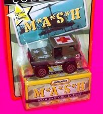 MASH 4077 GREEN JEEP RED CROSS STAR COLLECTION MATCHBOX DIE CAST CAR in TV SHOW