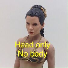 "Custom 1/6 Star wars Leia Jabba Slave Painted Head for 12"" Phicen Hot Toys body"