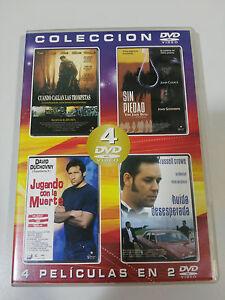 LOTE-DE-4-PELICULAS-DE-CULTO-EN-2-DVD-russell-crowe-john-cusack-ESPANOL-ENGLISH