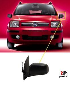Para-Fiat-Panda-2003-2009-nueva-ala-espejo-electrico-climatizada-5-Pin-Negro-Izquierda-LHD