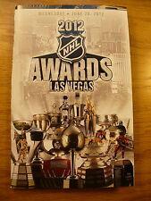 2012 NHL Hockey Awards Las Vegas Official Event Program New Mint Condition