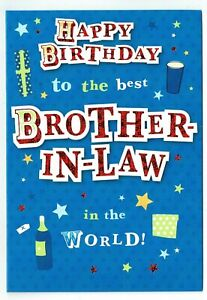 Image Is Loading Brother In Law Birthday Card With Funky Design