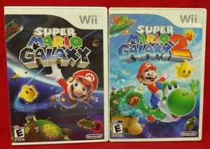 Super-Mario-Galaxy-1-2-Nintendo-Wii-Wii-U-Game-Lot-Complete-Working
