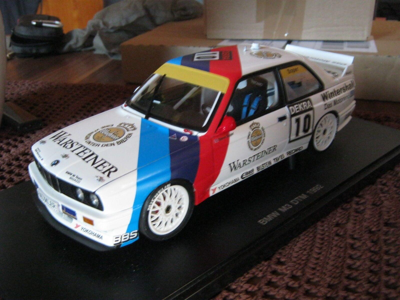 BMW m3 e30  DTM 1992 Steve SOPER  en 1 43 sur mesure