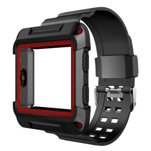 For-Fitbit-Blaze-Smart-Watch-Silicone-Replacement-Watch-Strap-Band-With-Frame-US
