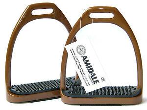 Amidale Aluminium Léger Étriers Avec Fils Couleur Marron Neuf Avec Étiquette