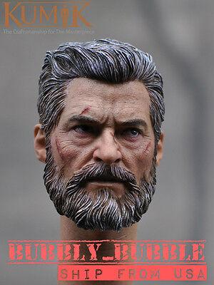 IN STOCK 1//6 Wolverine Head w// neck Old Hugh Jackman For Logan X-men USA
