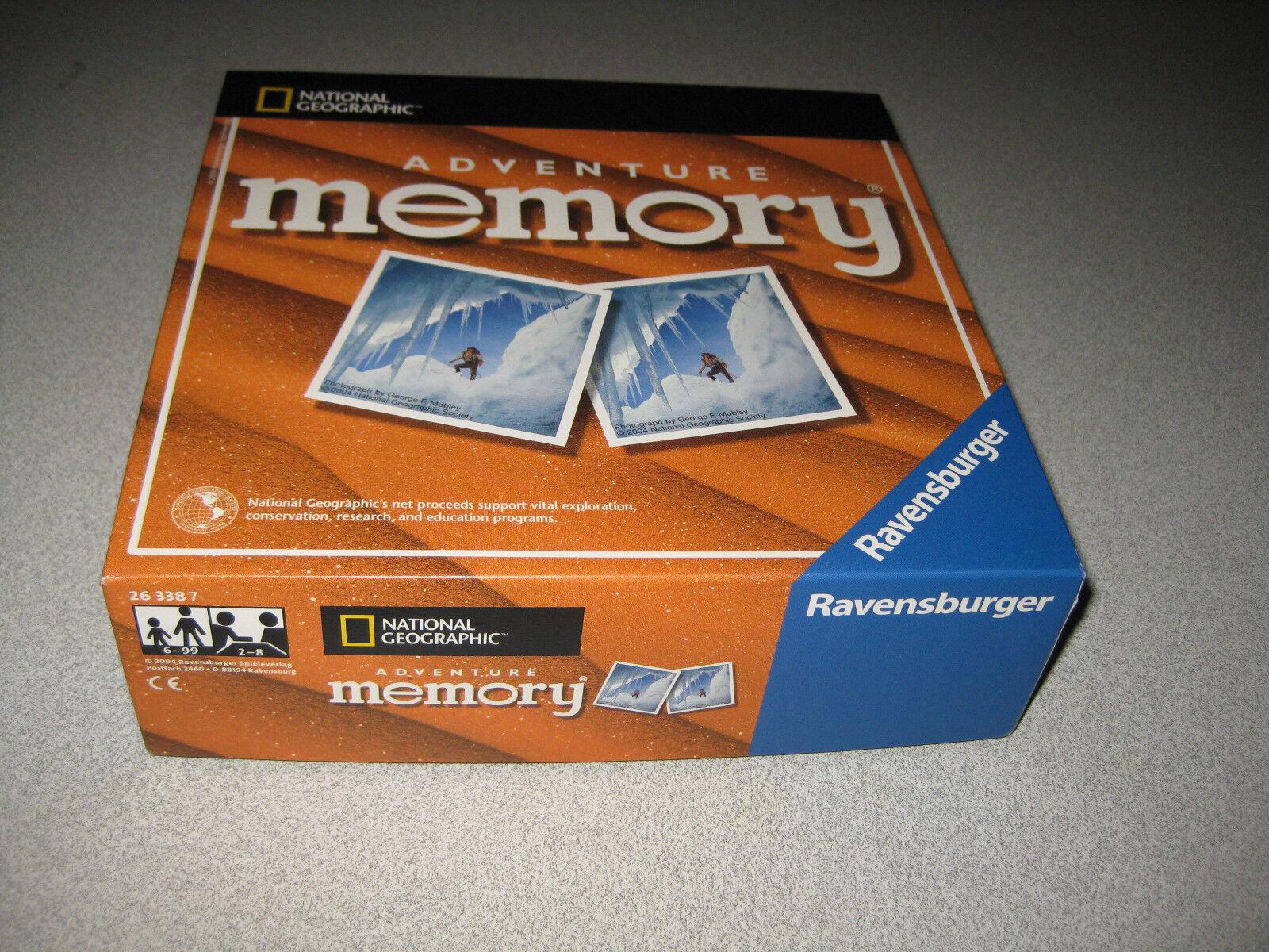 Ravensburger Memory Memory Memory Art. 263387 Adventure National Geographic RAR selten 32d546