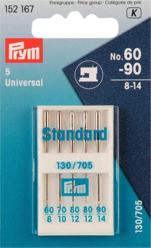 Prym agujas plana pistón grosor 130//705 60-90 plata de colores 5st.152167