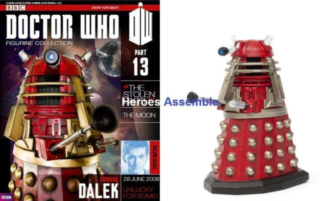 OFFICIAL DOCTOR WHO FIGURINE COLLECTION #13 SUPREME DALEK EAGLEMOSS (11, 12)