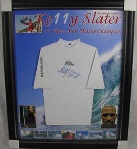 KELLY-SLATER-Hand-Signed-amp-Framed-Rashie