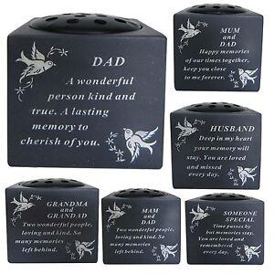 New Memorial Cemetery Dove Bird Graveside Flower Holder Pot Grave ...