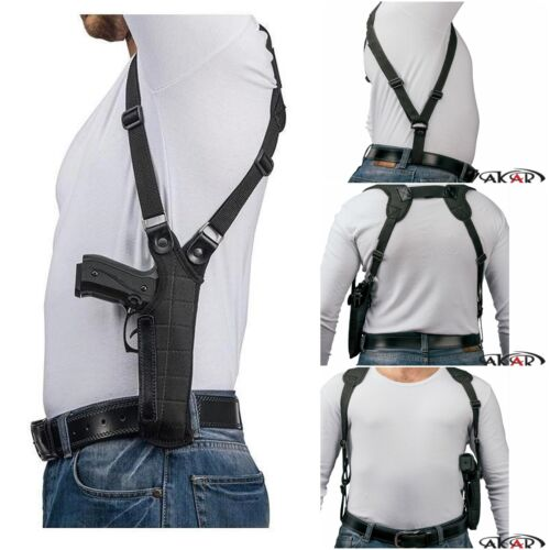 Akar Right Hand Vertical Shoulder Holster Fits SIG Sauer P220 SP2022 P229,P226
