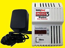 Safety Siren Pro Series Digital 3 Radon Detector Monitor + Batteries WARRANTY