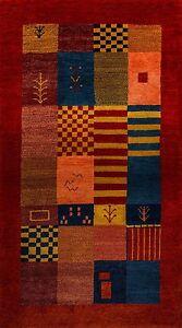 Gabbeh-Teppich-Orientteppich-Rug-Carpet-Tapis-Tapijt-Tappeto-Alfombra-Patchwork