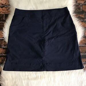 Lucy-Walkabout-Collection-Women-s-Skort-Skirt-SZ-Lrg-Navy-Blue-Activewear-Golf