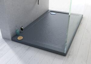 Piatto doccia ultraflat rettangolare superficie antiscivolo a filo pavimento 1 ebay - Piatto doccia filo pavimento piastrellabile ...