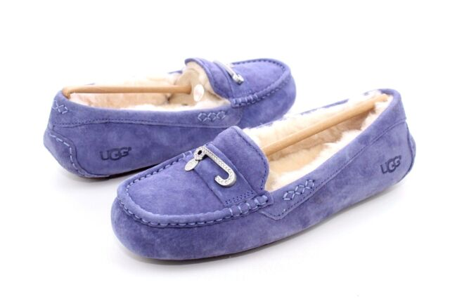 ac582749352 UGG Florencia Nocturn Crystal Suede Sheepskin Womens Slippers Size US 8