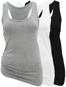 596228471df7dc BASIC-TOP Damen 2er Set - Sport-Top mit Ringerrücken 95% Baumwolle ...