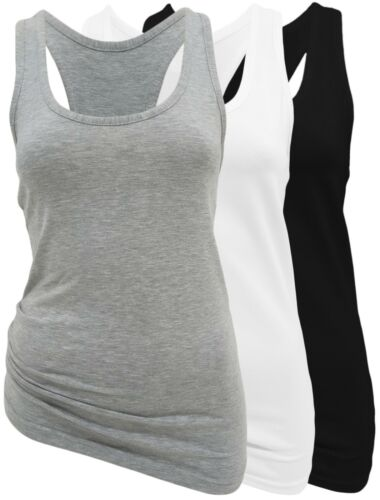 Tops Tank Top 2er Set Damen Basic Tops Schulterfrei 95/% Bw 34-36 bis 40-42