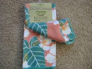 Details about Microfiber Kitchen Towels Dish Cloth (Towel set of 2)  Hawaiian Hawaii flower