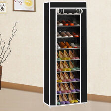 10 Tiers Shoe Rack Shelf Storage Closet Organizer Cabinet Dustproof Cover