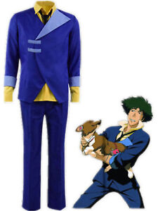 High Quality Cowboy Bebop Spike Spiegel Cosplay Costume custom free shipping