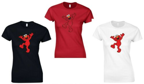 ELMO Sesame Street T Shirt Ladies Sizes 8-18