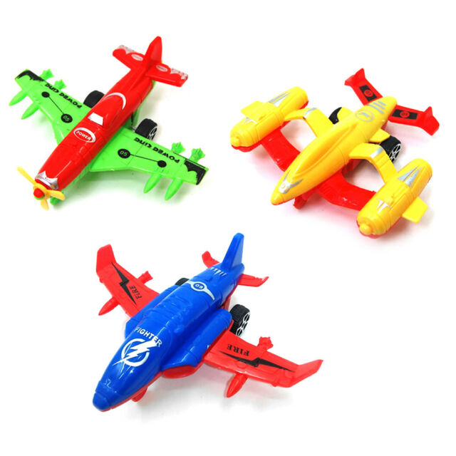 Plastic Cartoon Air Bus Model Kids Pull Back Airliner Passenger Plane Toy Gifts