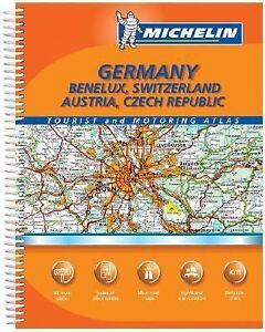 Road Map Of Germany And Austria.Maps Germany Benelux Switzerland Austria Czech Republic Road Atlas