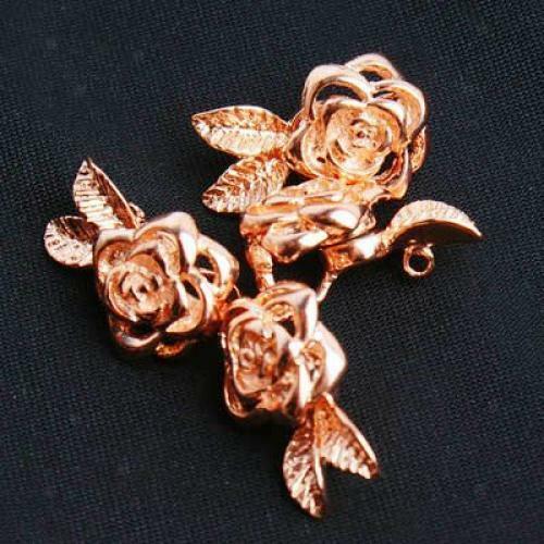 1 Stück 18 Karat Vergoldet Rose Blume Magnetverschluss Schnalle DIY