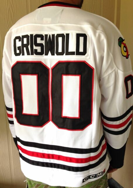 ... 50L GRISWOLD Chicago Blackhawks 00 Clark Christmas Movie CCM Hockey  Jersey ... 3d0fb3cf5