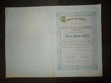 MEXICO: MINERA ALTA Y  BAJA CALIFORNIA  ACCION 1880
