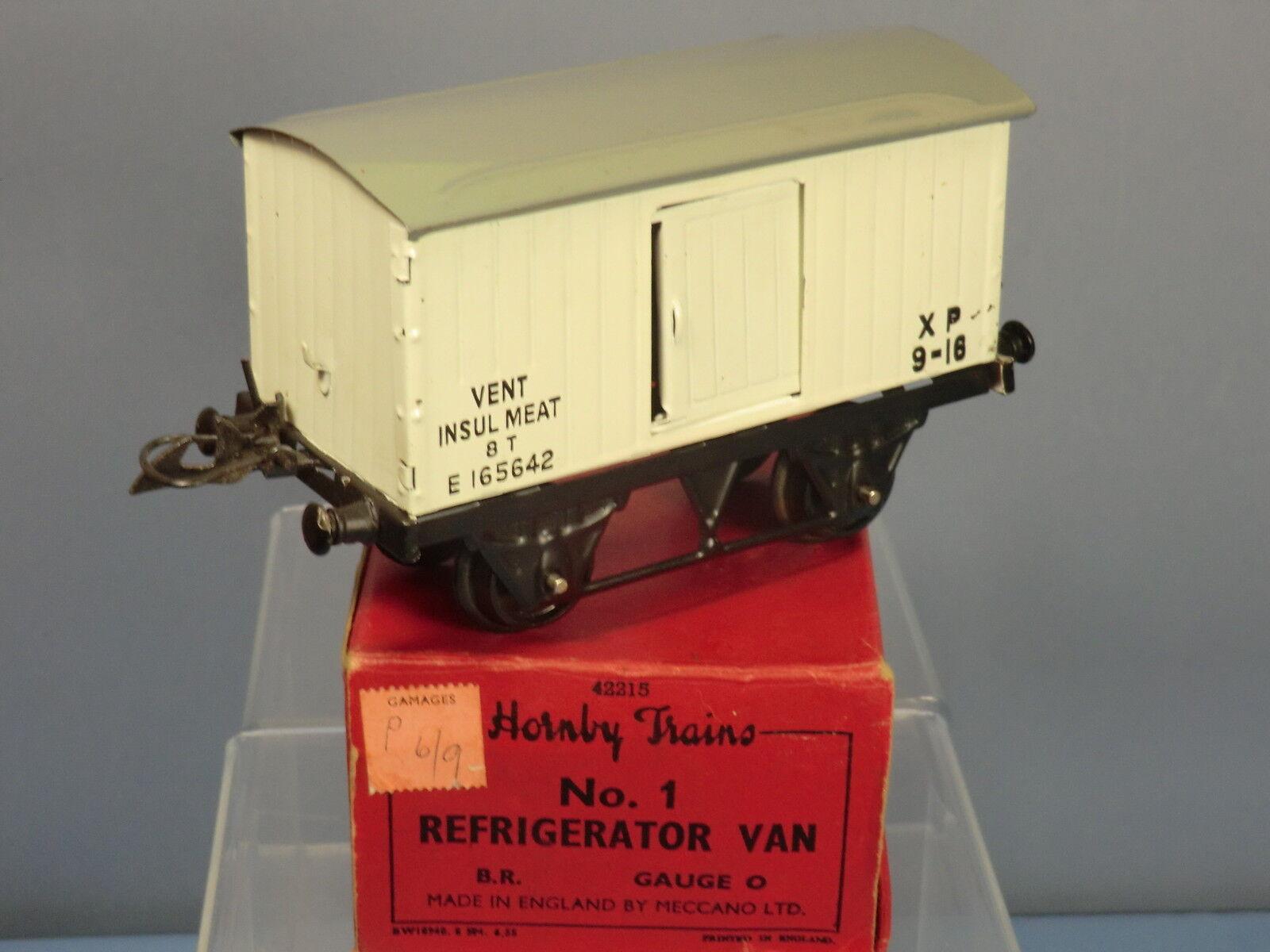 VINTAGE HORNBY '0' GAUGE  MODEL  No.1 B.R.  (E) REFRIGERATOR VAN      MIB