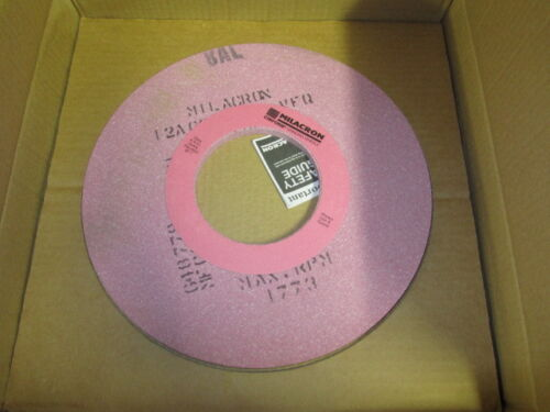 "1 new MILACRON 14/"" x 1//2/"" x 5/"" Abrasive Grinding Wheel Grade 12A601-H62-VFQ"