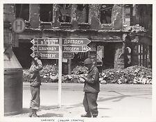 WORLD WAR ll ~ CHEMNITZ (RUSSIAN TERRITORY) ~ ORIGINAL COMBAT PHOTO - 1945