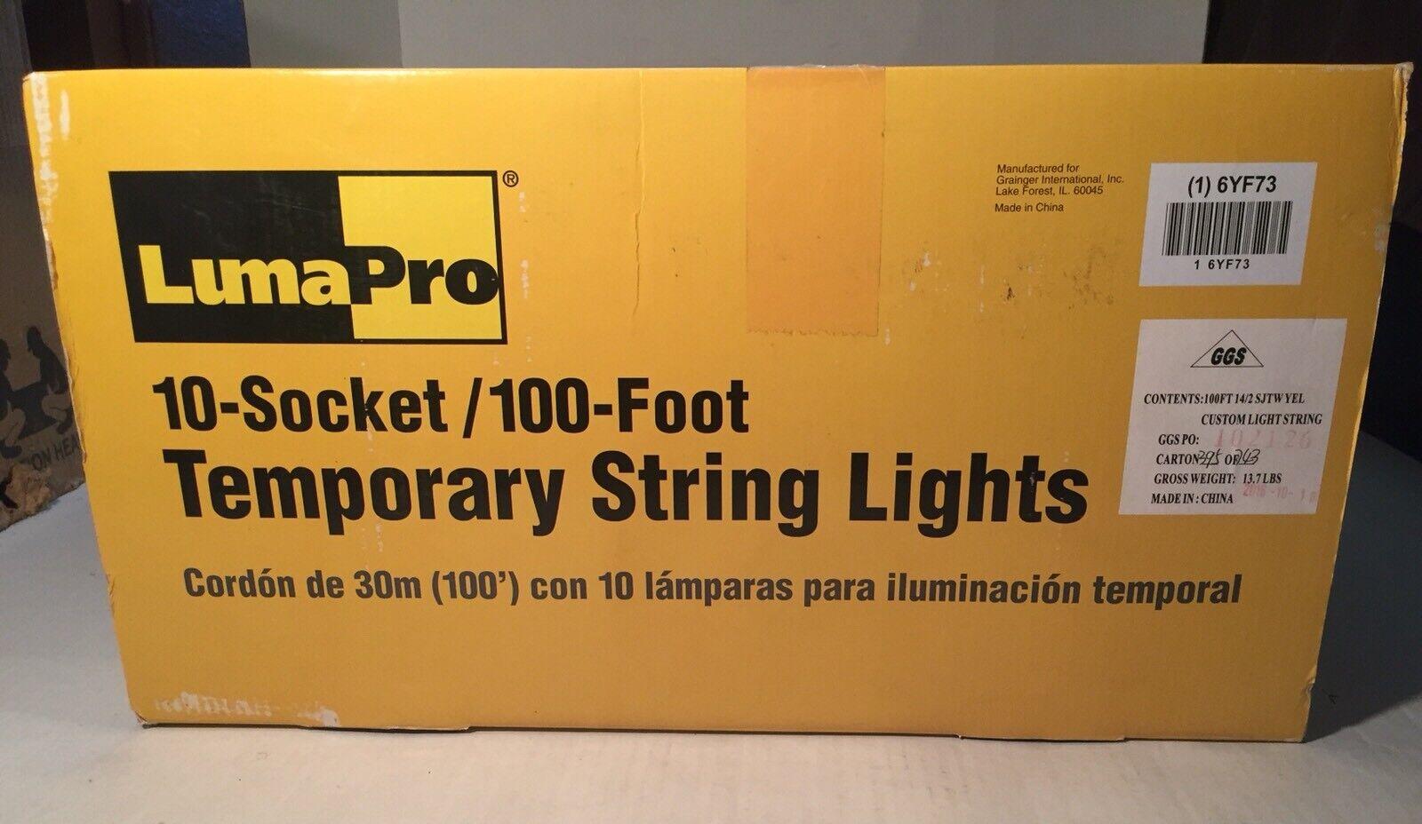 Lumapro, Lumapro, Lumapro, 6YF73, 150 W incandescente luz de cadena temporal amarillo/negro d2e6cf