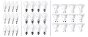 12-x-Philips-LED-Leuchtmittel-2700K-GU10-Strahler-E27-Birnenform-E14-Kerze