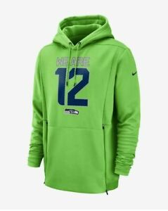 online store b6b42 51558 Details about Nike Men's Therma Seattle Seahawks WE ARE 12 Sideline Hoodie  GREEN Size LARGE