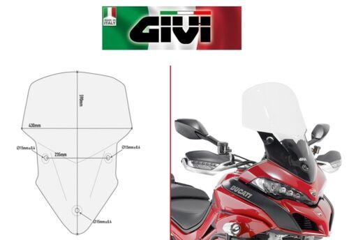 Cupolino specifico trasparente DUCATI Multistrada 1200 2015 2016 D7406ST GIVI