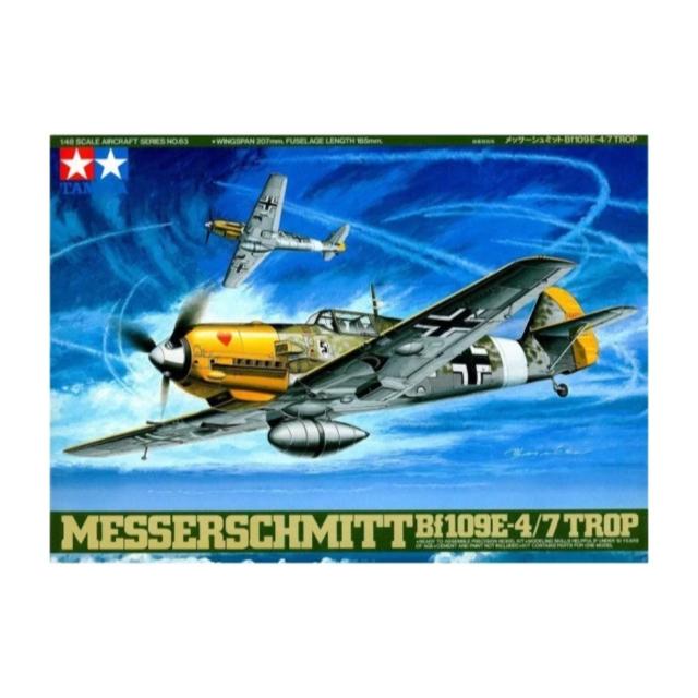 Tamiya 61063 1/48 Messerschmitt Bf109E-4/7 Tropical Plastic Model Kit New