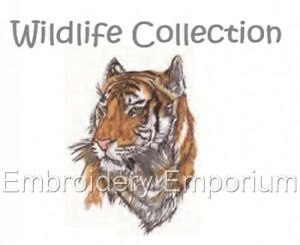 MACHINE EMBROIDERY DESIGNS ON CD OR USB WILDLIFE COLLECTION